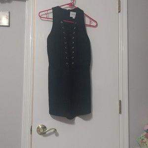 Black corset romper